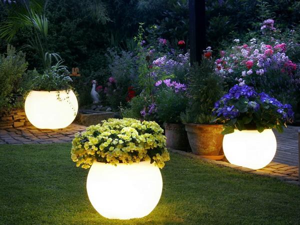 éclairage Led jardin pot de fleur