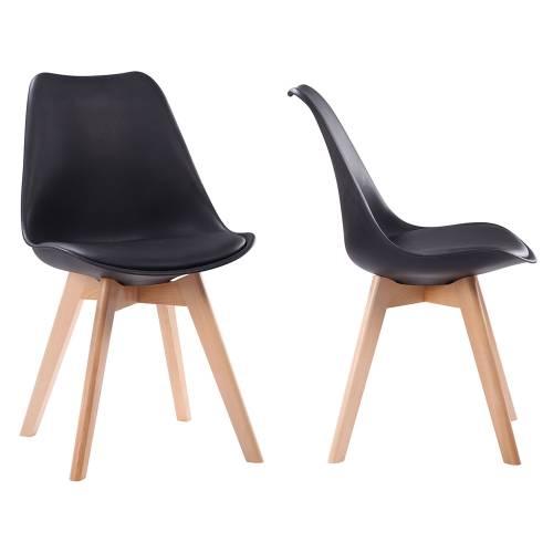 chaises noires style nordique